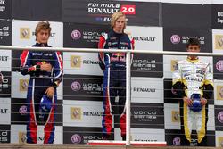 Podio: ganador de la carrera Brendon Hartley, Epsilon Red Bull Team, segundo lugar Stefano Coletti, Epsilon Euskadi, tercer lugar Nelson Panciatici, Boutsen Energy Racing