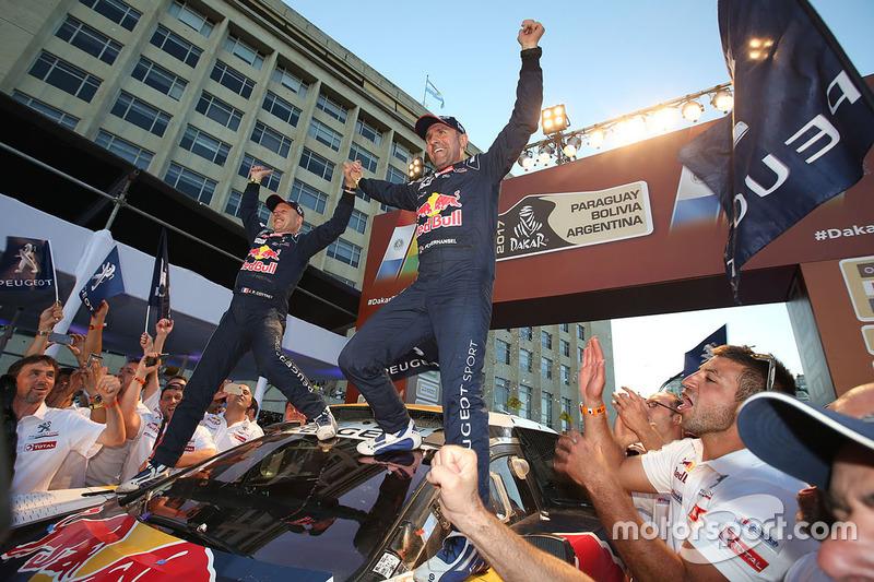 Ganadores Stéphane Peterhansel, Jean-Paul Cottret, Peugeot Sport