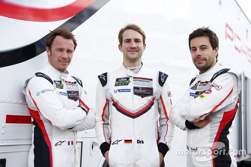 Patrick Pilet, Dirk Werner, Frederic Makowiecki, Porsche Team North America Porsche