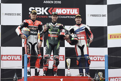 Podium: winner Jonathan Rea, Kawasaki Racing, second place Chaz Davies, Ducati Team, third place Nicky Hayden, Honda World Superbike Team