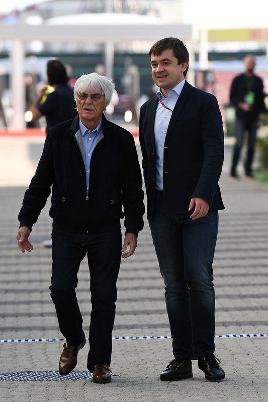 Bernie Ecclestone, Sergey Vorobyev, Sochi Autodrom Deputy General Director
