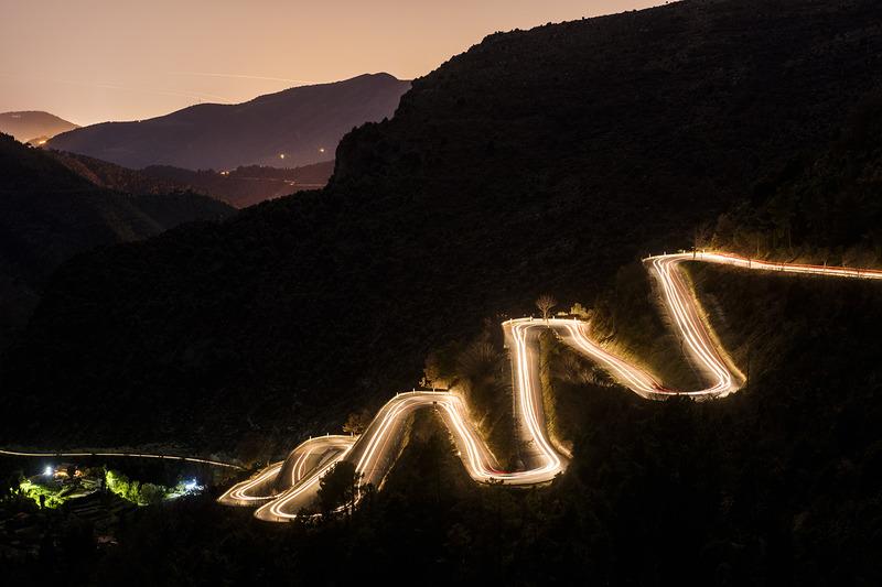 Los famosos y traicioneros caminos alrededor de la zona de Monte Carlo