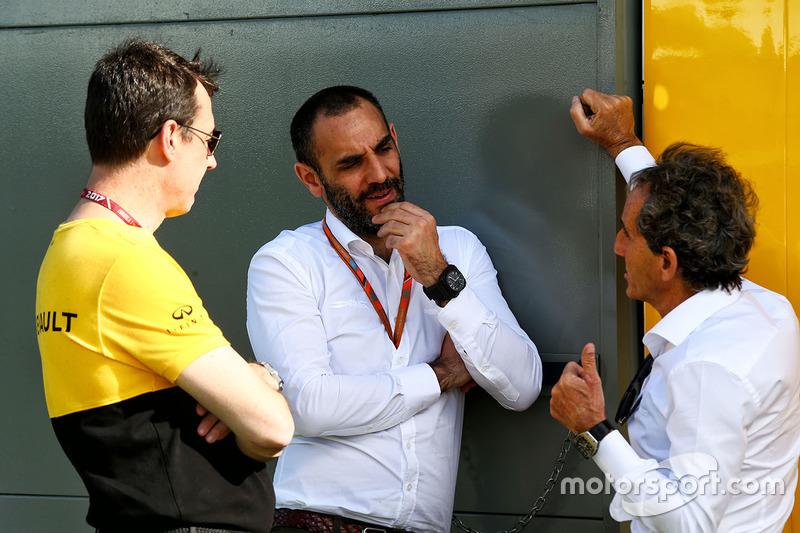 Cyril Abiteboul, Renault-Sportchef, mit Berater Alain Prost