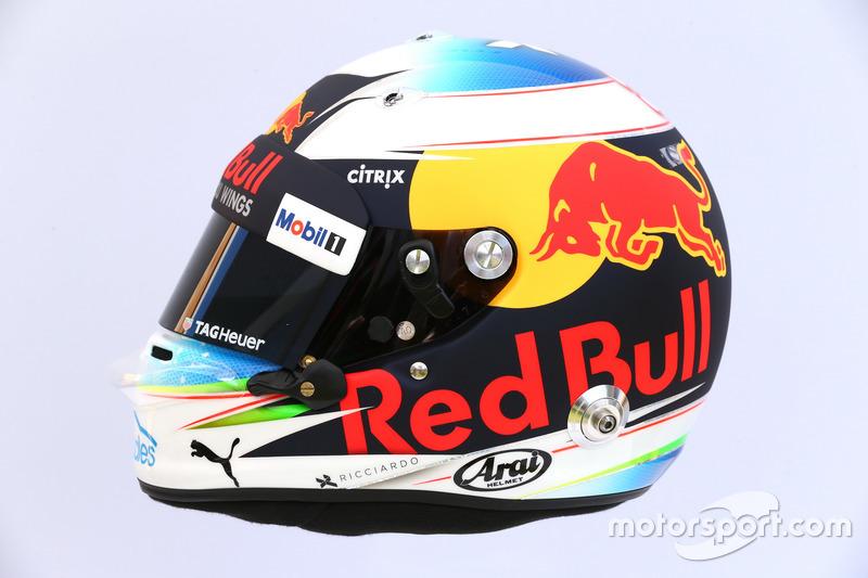 Casco de Daniel Ricciardo, Red Bull Racing RB13