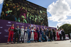 The drivers on the podium