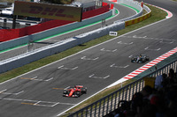 Sebastian Vettel, Ferrari SF70H and Lewis Hamilton, Mercedes-Benz F1 W08  battle for position