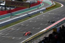 Sebastian Vettel, Ferrari SF70H and Lewis Hamilton, Mercedes-Benz F1 W08  battle for position