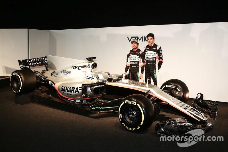 Esteban Ocon und Sergio Perez mit dem Force India VJM10