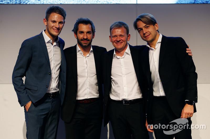 Marco Wittmann, Timo Glock, Stefan Reinhold Team diretor BMW Team RMG y Augusto Farfus