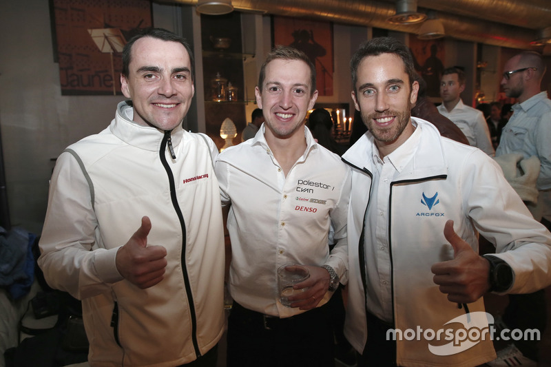 Norbert Michelisz, Honda Racing Team JAS, Honda Civic WTCC; Nestor Girolami, Polestar Cyan Racing, V
