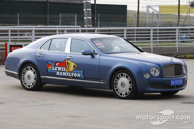 A Lewis Hamilton – liveried Bentley