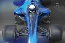 Машина Ф1 с системой защиты кокпита «Щит»: фантазия художника