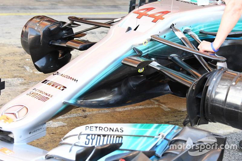 Носовой обтекатель Mercedes-Benz F1 W08