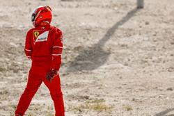 Kimi Raikkonen, Ferrari, rentre à son stand