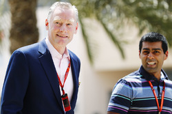 Sean Bratches, Managing Director of Commercial Operations, Formula One with Karun Chandhok