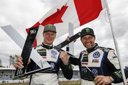 Winner Johan Kristoffersson, Volkswagen Team Sweden, second place Petter Solberg, PSRX Volkswagen Sweden VW Polo Gti