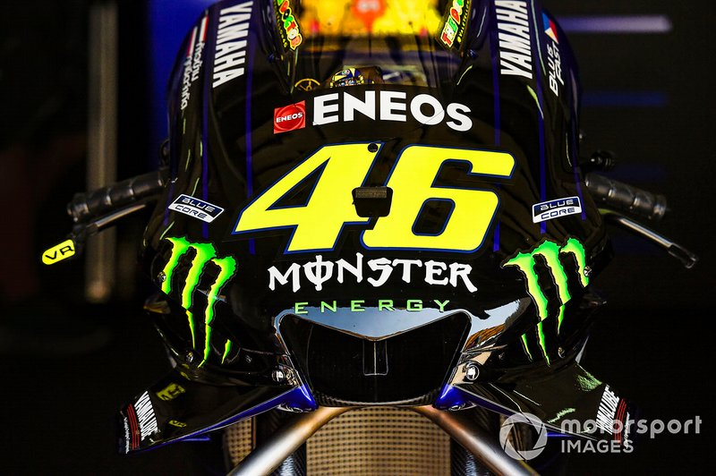 Yamaha Factory Racing bike detail of Valentino Rossi