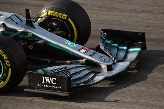 Mercedes-AMG F1 W10 EQ Power+, dettaglio dell'ala anteriore