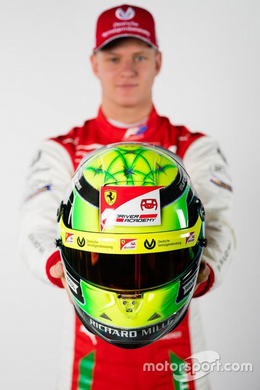 Helmet of Mick Schumacher, Prema Racing