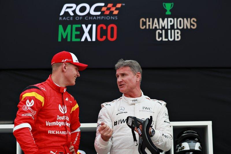 Mick Schumacher y David Coulthard