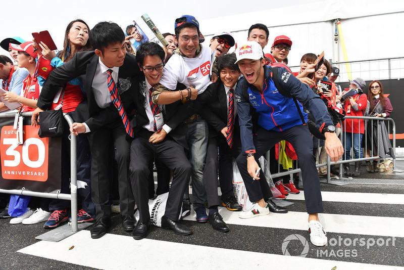 Pierre Gasly, Scuderia Toro Rosso and fans