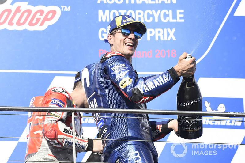 Podium Maverick Viñales, Yamaha Factory Racing