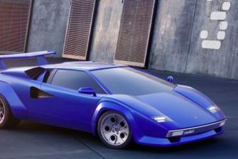 Lamborghini Countach, render