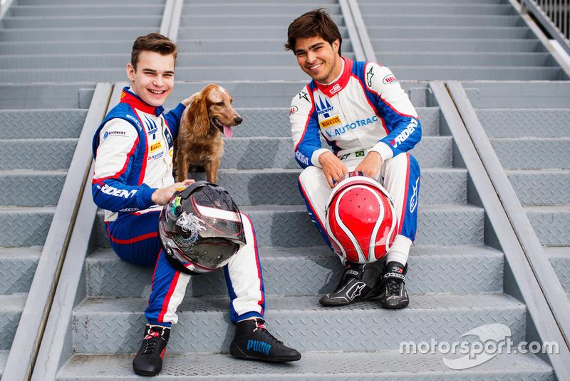 Les vainqueurs de Monza, David Beckmann et Pedro Piquet. Des pilotes qui ont du chien !