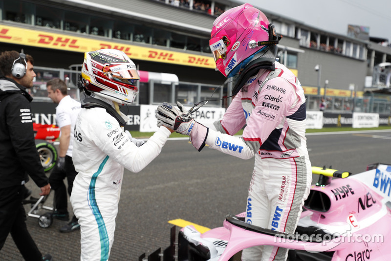 Льюіс Хемілтон, Mercedes AMG F1, Естебан Окон, Racing Point Force India