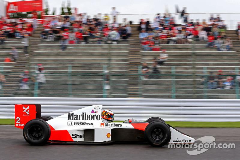 Stoffel Vandoorne, McLaren F1 Team, im McLaren MP4/5 von Alain Prost aus der Saison 1989