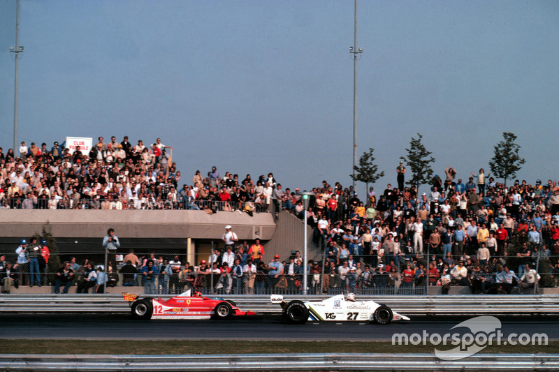 Gilles Villeneuve, Ferrari, Alan Jones, Williams