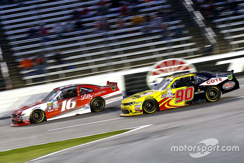 Ryan Reed, Roush Fenway Racing Ford and Martin Roy, Chevrolet