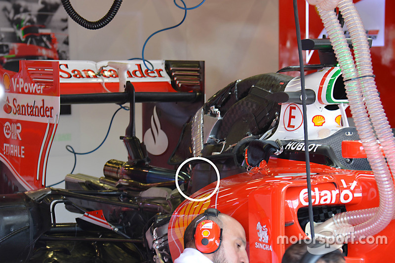 Ferrari SF16-H rear detail