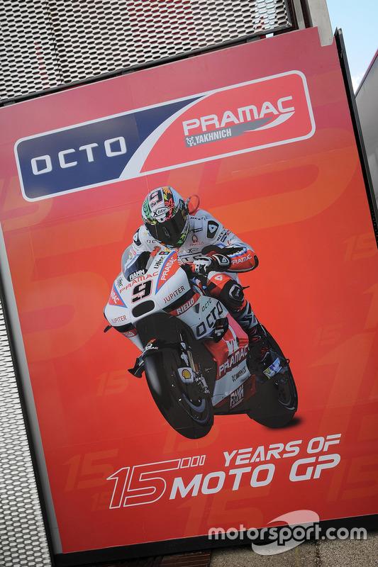 Pramac Racing motorhome logo