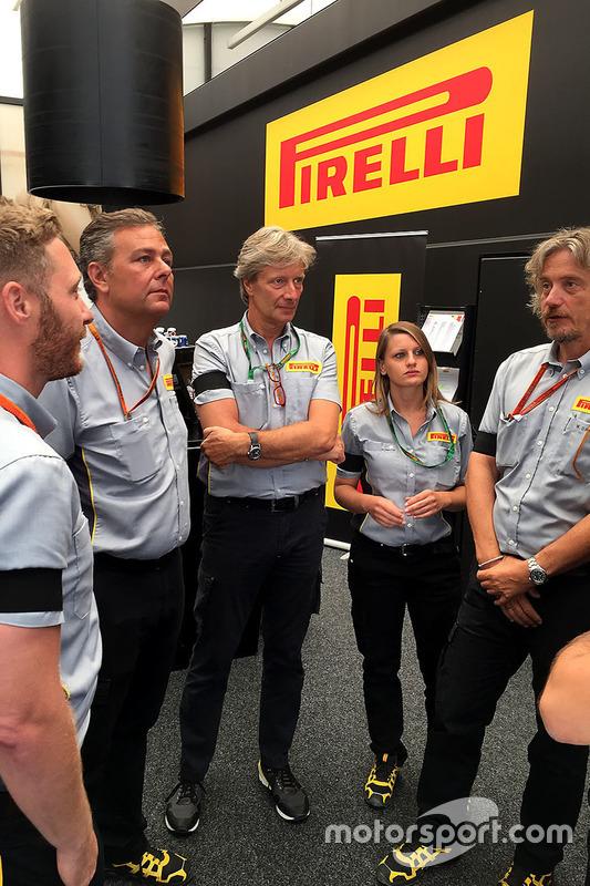 Le staff Pirelli à Spa-Francorchamps