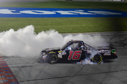 Brett Moffitt, Hattori Racing Enterprises, Toyota Tundra celebrates after winning