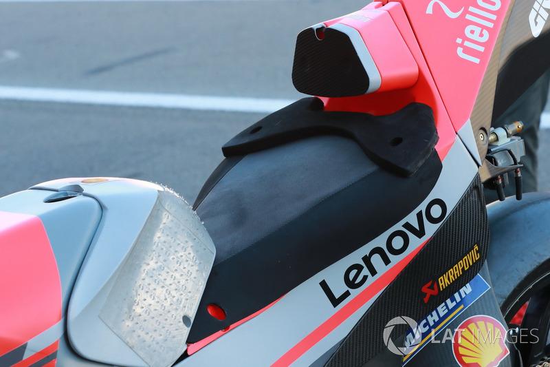 Bike of Jorge Lorenzo, Ducati Team, seat
