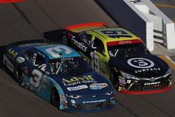 Ty Dillon, Richard Childress Racing Chevrolet, Matt Tifft, Joe Gibbs Racing Toyota