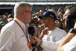 Ross Brawn, Formula One Managing Director of Motorsports en Lewis Hamilton, Mercedes-AMG F1