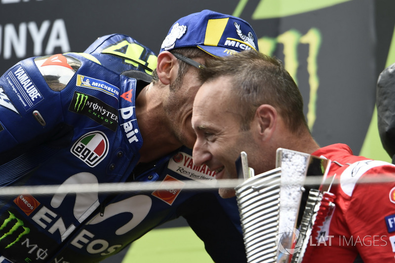Podium: Valentino Rossi, Yamaha Factory Racing, Cristian Gabarrini, Ducati Team