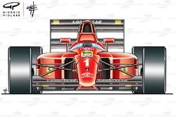 Ferrari F1-90 (641) vista frontal