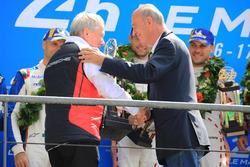 LMGTE Pro podium: Wolfgang Ullrich