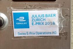 Swiss ePrix Operations AG, etichetta sul campanello