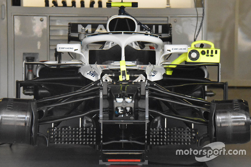 Detalle frontal del Williams FW41