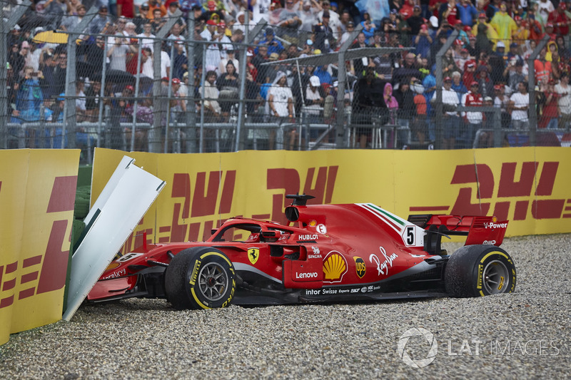 Vettel after crashing out