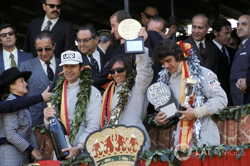 1973. 1. Emerson Fittipaldi, Lotus 2. François Cevert, Tyrrell 3. George Follmer, Shadow