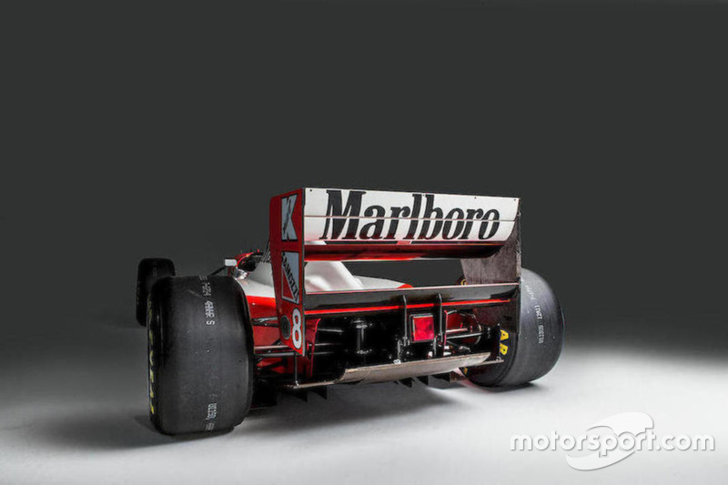 La McLaren-Cosworth Ford MP4/8A d'Ayrton Senna