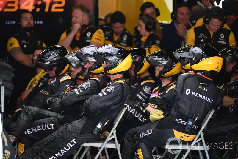 Механики Renault Sport F1 Team