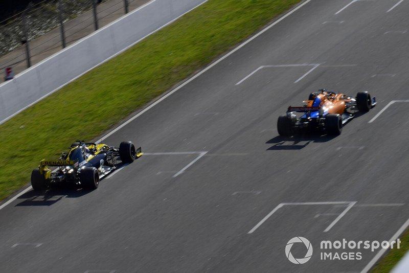 Daniel Ricciardo, Renault F1 Team R.S. 19 et Lando Norris, McLaren MCL34