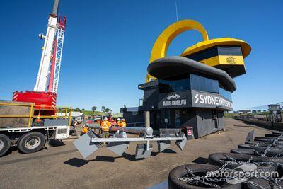 Lights installation at Sydney Motorsport Park